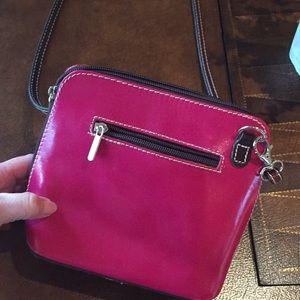 Handbags - Hot pink leather crossbody